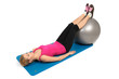 Stability Fitness Ball Leg Curls, Female Butt Exercise