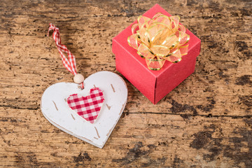 heart and gift for valentine
