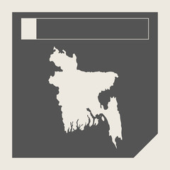 Bangladesh map button