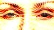 Hypnotizing eyes. Seamless loop