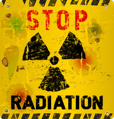 Radiation warning, vector illustration