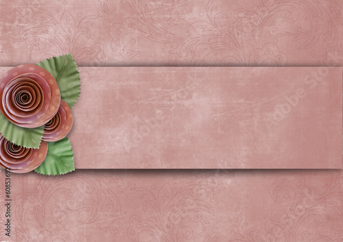 Vintage superb background with roses