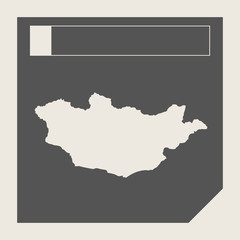 Mongolia map button