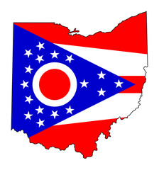 State of Ohio flag map