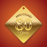 80th Anniversary poster / template/ tag design Vector Background