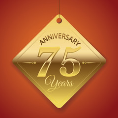 75th Anniversary poster / template/ tag design Vector Background