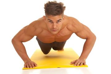 strong man push up serious