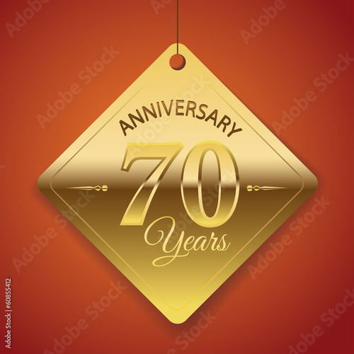 70th Anniversary poster / template/ tag design Vector Background