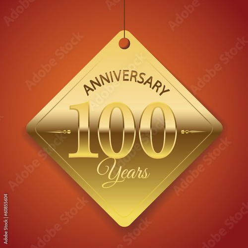 100th Anniversary poster/ template/ tag design Vector Background