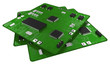 Printed circuit boards populated with some components - 60855826