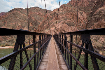 Kaibab bridge crossing Colorado river at the Grand Canyon