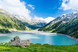 Fototapety Spectacular scenic Big Almaty Lake ,Tien Shan Mountains