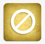 Not Allowed parchment icon