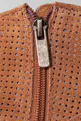 Boot Zipper in Perforated Suede