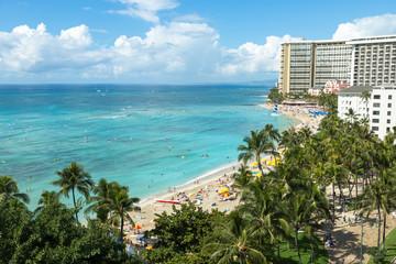Waikiki beach resort in Hawaii