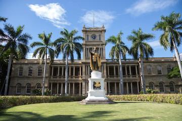 Hawaii Kamehameha palace building