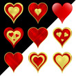 Сердце набор иконок