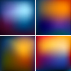 Smooth colorful backgrounds set