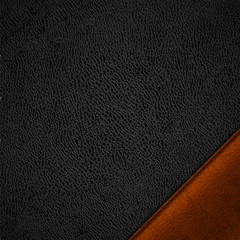 Leather textured background with label in the corner