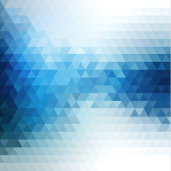 Abstract blue flow mosaic background