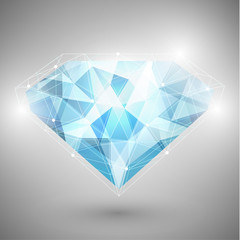 Abstract diamond schematic