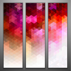 Abstract mosaic banners set