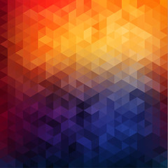 Abstract vibrant mosaic background