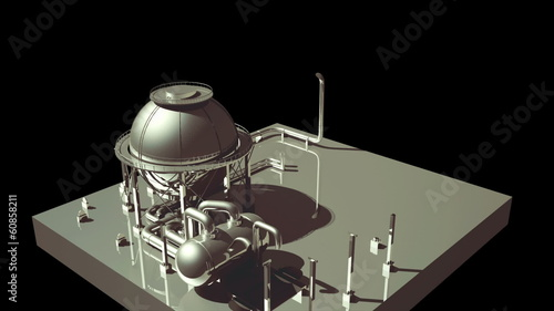 3d Animating industrial project
