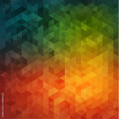 Vibrant colorful mosaic background