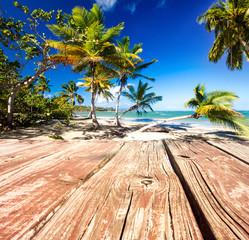 Bootssteg vor Karibischem Traumstrand :)