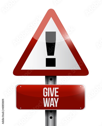 give way warning illustration design