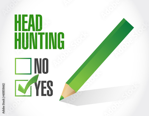 head hunting checklist illustration design