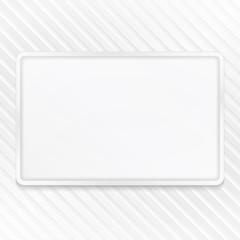 White Frame on Striped Background