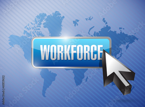 workforce button illustration design