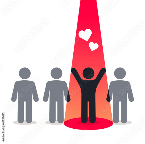 Symbol of love and happiness - pictogram people