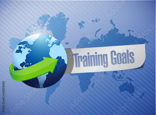 training goals sign illustration design