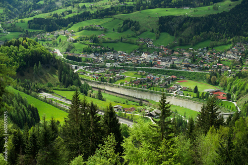 Beautiful view of the village of Werfen,  Austria