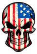 american flag painted on skull - 60860216