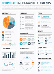 Corporate infographic elements template vector