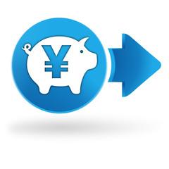 épargne yen sur symbole web bleu