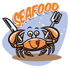 cute crab mascot