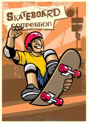 skateboard competition poster