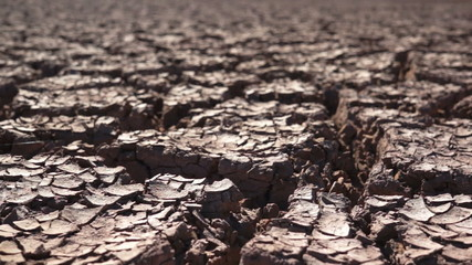 Environmental Cracked Dry Earth