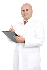 Doctor on an isolated white background