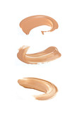 Fototapety Collection of liquid foundation strokes