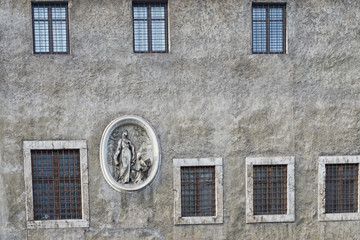 Rome bas relief on building