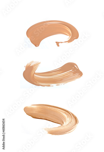 Collection of liquid foundation strokes