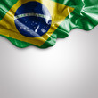 Waving flag of Brazil, South America