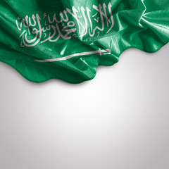 Waving flag of Saudi Arabia, Western Asia