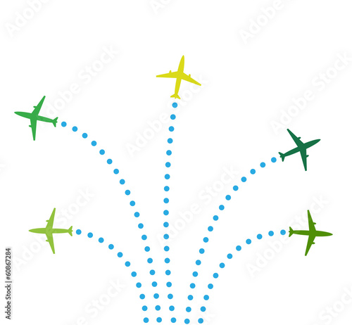 Five airplanes